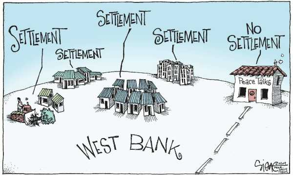 Image result for Jewish settlements CARTOON""